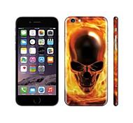 SKINAT DIY skin sticker for iPhone 6(hide logo) back decals sticker yellow human skeleton mobile phone stickers