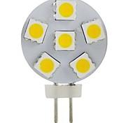 JUXIANG Dekorativ Spot Lampen G4 2 W 200 LM 2800-3200 K 6 SMD 5050 Warmes Weiß DC 12 V