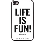 Personalized Phone Case - Life is Fun Design Metal Case for iPhone 4/4S