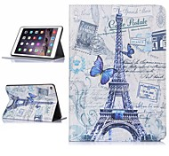 ENKAY Tower Pattern Auto Sleep and Wake Up Designed Protective Case with Stand and Card Slots for iPad Air 2