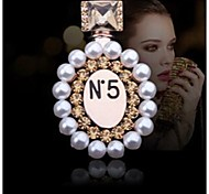 Fashion Diamond Perfume Bottle Alloy Brooch (1pc)