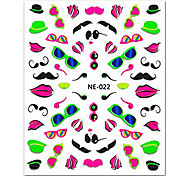 5PCS Colorful Glasses Top Grade Nail Art Stickers