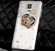 Luxus Diamanten Kristall Krone zurück Tasche für Samsung Galaxy Note 4