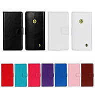 Solid Color PU Leather Full Body Case with Stand and Card Slot for Nokia Lumia 520 (Assorted Color)