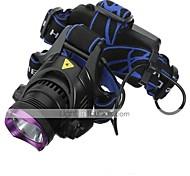 Luci Torce frontali LED 2200 Lumens 3 Modo Cree XM-L2 18650 Impermeabili / RicaricabileCampeggio/Escursionismo/Speleologia / Uso