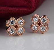 A Clover Stud Earrings Jewelry,in 925 Sterling Silver Earrings Jewelry,Cubic Zirconia Earrings,Women's Earrings Jewelry