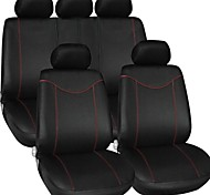 TIROL Universal Car Seat Cover Set New Black 9 Pieces Seat Covers For Crossovers SUV Sedans