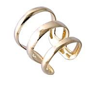 Three Glossy Narrow Mouth Ring