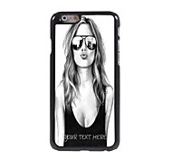 Personalized Phone Case - Beautiful Girl Design Metal Case for iPhone 6 Plus
