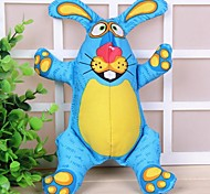 Blue Rabbit Shaped Squeaking Chew Toys for Pet Dogs