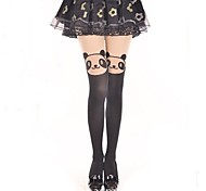 Socks/Stockings Sweet Lolita / Classic/Traditional Lolita Princess / See Through Black Lolita Accessories Stockings Print For Women Velvet