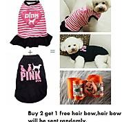 Dog Dresses / T-Shirt - XS / S / M / L - Summer - Black / Pink - Wedding / Cosplay - Cotton