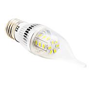 5W E26/E27 Luces LED en Vela CA35 24 SMD 5730 350 lm Blanco Cálido / Blanco Fresco AC 100-240 V