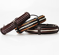 Z&X®  Vintage Tibetan Handmade Men's Leather Bracelets (1pc, 3 Colors Options)
