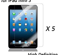 [5-Pack] Premium High Definition Clear Screen Protectors for iPad mini 3