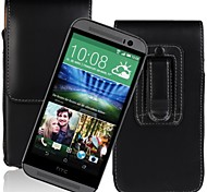 Genuine PU Cowhide Leather Flip Wallet Vertical Case with Belt Clip for HTC ONE M8