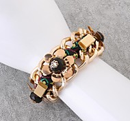 Ms Fashion Hyperbole Crystal Gem 18K Gold Plating Bracelets