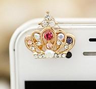 Cute Crown Shaped 3.5mm Anti-dust Plug for iPhone 6 and Others