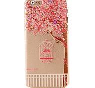 розовый цвет вишня рисунок трудно casor iPhone 6 Plus