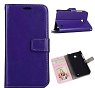 Oil Side Frame Model Design PU Leather Full Body Case with Card Slot for Nokia Lumia 630 (Assorted Colors)