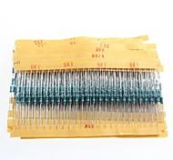 1/4W Resistance Metal Film Resistors 1% 10R-1M (30 x 25Pcs)
