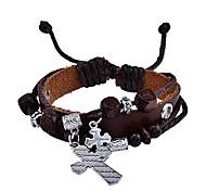 lureme® bracelet croix brin de style vintage