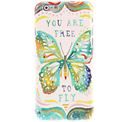 Green Butterfly Design Hard Case for iPhone 6 Plus