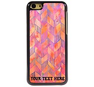 Personalized Phone Case - Pink Waveform Design Metal Case for iPhone 5C