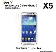 alta transparencia hd Protector de pantalla para samsung galaxy grand 2 (5 piezas)