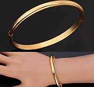 U7® Excellent Craft Mirror Polish 18K Gold Plated Cuff Bracelets