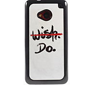No Wish But Do Design Aluminium Hard Case for HTC M7