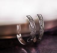 Lucky Curve Earrings Jewelry,in 925 Sterling Silver Earrings Jewelry,Cubic Zirconia Earrings,Women's Earrings Jewelry