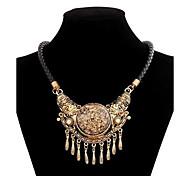 Women's Vintage National Wind Tassel Alloy Necklace
