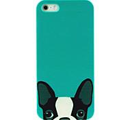 caso duro metade padrão cachorro rosto para iphone4 / 4s