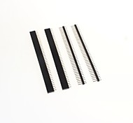 GDW AZ13 40-Pin 2.54mm Pitch Pin Headers - Black (4 PCS)