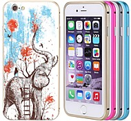 Lacdo® Elephant Back Cover Aluminium Metal Bumper Frame Case Full Armor Protect for iPhone 6(Assorted Color)