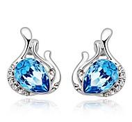 925 Sterling Silver Angel Eye Drop Earrings