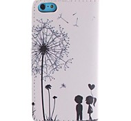 Dandelion PU Full Body Case With The Dustproof Plug with Card Slot and Stand for iPhone 5C