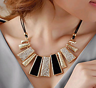 European Style Fashion Drill Oil Drip Irregular Shape Alloy Necklace