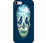 crânio padrão de volta caso para iphone 6 aves