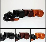 dengpin pu pelle fotocamera caso protettivo della copertura borsa con tracolla per Panasonic LUMIX DMC-fz1000 fz1000