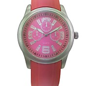 Women's Analog Alloy Case Round Dial Plastic Band Quartz Watch Women's Watch Fashion Watch Gift Watch(Assorted Colors)