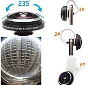 Super 235 gradi lente dell'occhio clip di lente fisheye pesci staccabile universale per iPhone / iPad e gli altri