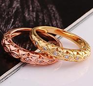 Fine Grain Love AAA Zircon 18K Gold Plating Ring Exquisite Gift