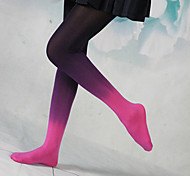 Punk Girl Purple & Fuchisa Insulated Velvet Gothic Lolita Stockings