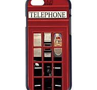 Doopootoo™ Telephone Box Design Painted Pattern Slim Plastic Back Hard Case Cover For iPhone 6 4.7""