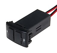 12V 2.1A Dual USB Port Power Socket Mobile GPS Car Charger for MAZDA (Black)