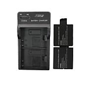 star ™ 2 x 900mAh Li-Ion Akku mit uns stecken DSTE Dual-Slot-Ladegerät für sj4000 Wi-Fi (2 Batterien + 1 Ladegerät)
