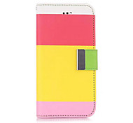 Nappa Patch Pattern Wallet Leather Case  for iPhone 6 (Assorted Colors)