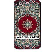 personalizzato phone case - tappeto caso di disegno del metallo rosso per il iphone 4 / 4s